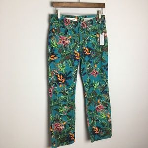 ANTHROPOLOGIE tropical high-rise bootcut Jeans